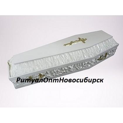 Гроб белый атлас