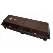 Гроб двухкрышечный четырехгранный Венге