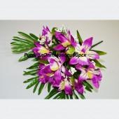 Букет Орхидея с папоротником 12 г 40 см