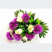 Букет Гвоздика с Розой 18 г 50 см