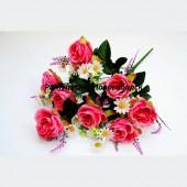 Букет Роза с Ромашкой 14 г 60 см