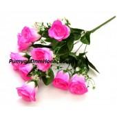 Роза с листом 9 г 50 см