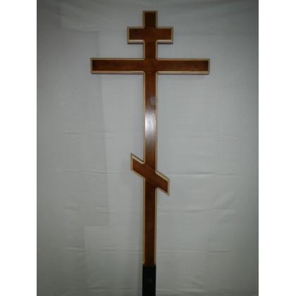 Крест простой с окантовкой лакированный