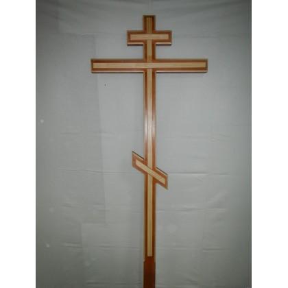 Крест малый с накладками лакированный