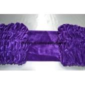 Обшивка из фиолетового бархата