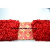 Обшивка из бархата, верх из парчи с накатом