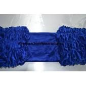 Обшивка из синего бархата