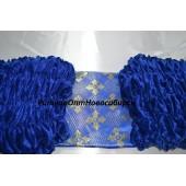 Обшивка из синего бархата, верх из парчи с накатом