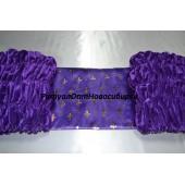 Обшивка из фиолетового бархата, верх из атласа с накатом