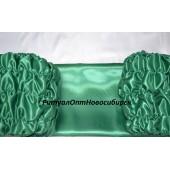 Обшивка гроба из атласа зеленая