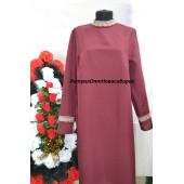 Платье с кружевом бордовое