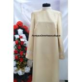Платье с кружевом бежевое