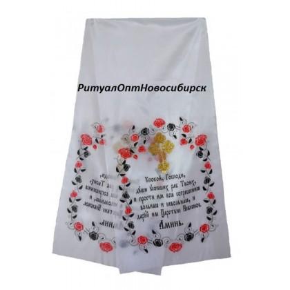 Полотенце на крест цветное