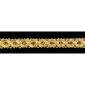 Тесьма Узор 1,3 см золото